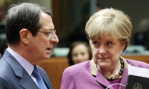Angela Merkel and Nicos Anastasiades